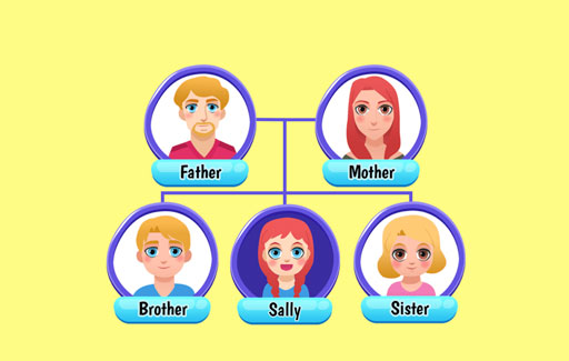 Apply knowledge of traits that are inheritable and those that are not to Draw conclusions on the pattern of inheritance for a trait, from the evidence presented in a family tree or a table for that trait among family members that span at least 2 generations.
