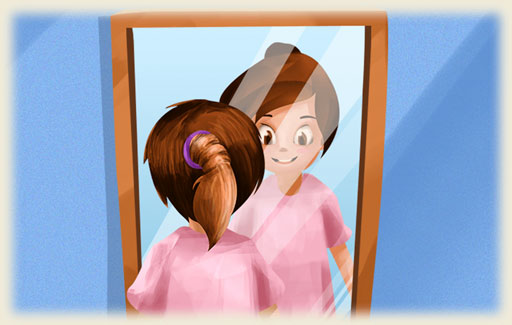 Identify the ray diagram that correctly shows how a person can see an object through a mirror.