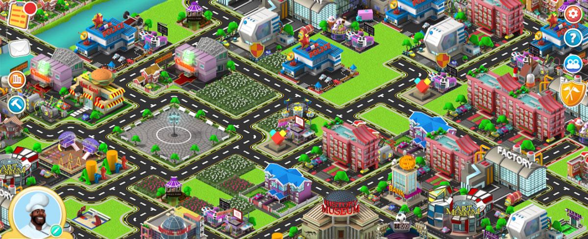 STEAMValley game screenshot showing the townplan