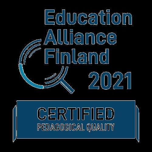 Education Alliance Finland Certificate 2021